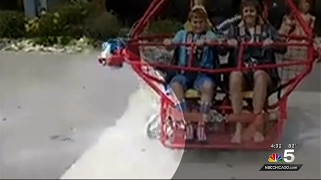 Caught On Cam Cable Snaps On Sling Shot Ride In Wisconsin Dells