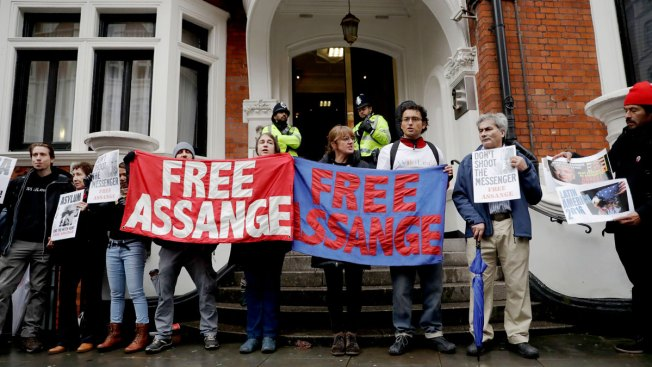 WikiLeaks' Julian Assange gives statement over Swedish rape allegations