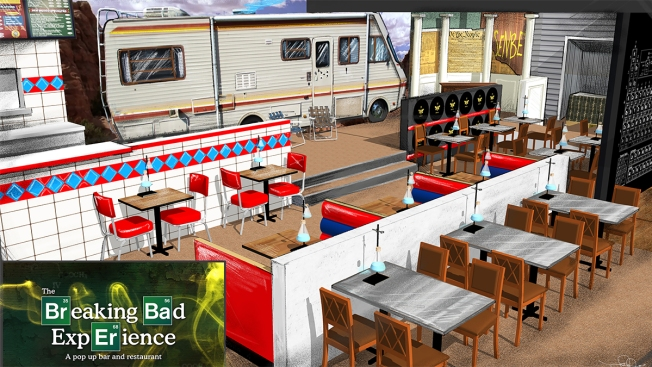Step Into Walter White's World at This 'Breaking Bad' Pop-up Bar and Restaurant in West Hollywood