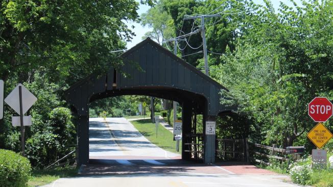 Historic Covered Bridge Badly Damaged After Truck Crash