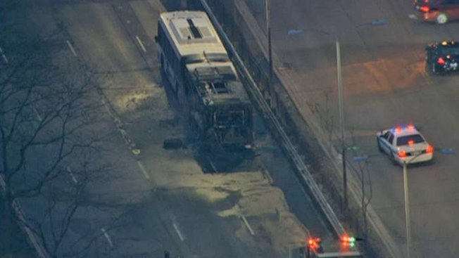 Bus Fire Snarls Lake Shore Drive Traffic