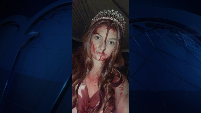Woman in 'Carrie' Costume Totals Car, Terrifies First Responders