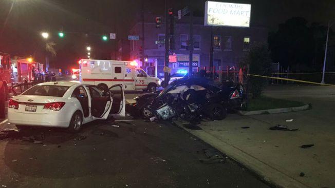 4 Car Crash On South Side Sends 7 To Hospital Including
