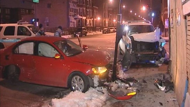 Two Officers Injured in West Side Crash