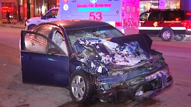 7 Injured in Four-Vehicle Crash