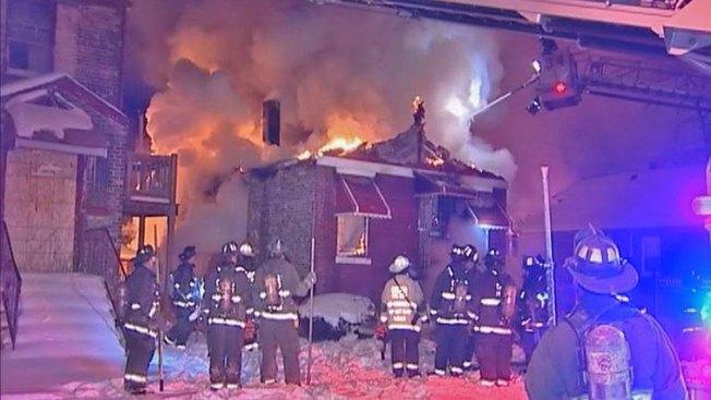 Crews Battle Fire in Burnside Neighborhood