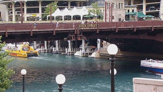 Downtown Bridge Closed For Riverwalk Work