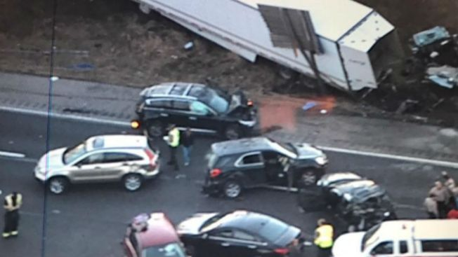 I-55 Shut Down Near Route 30 After 8 Cars and Tractor-Trailer in Accident: State Police