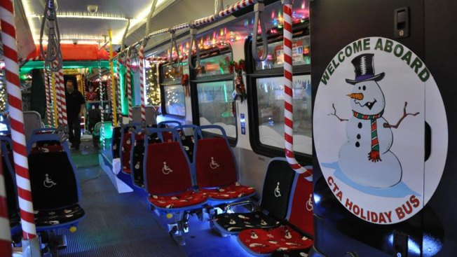 CTA Adds Decorated Bus to Holiday Season