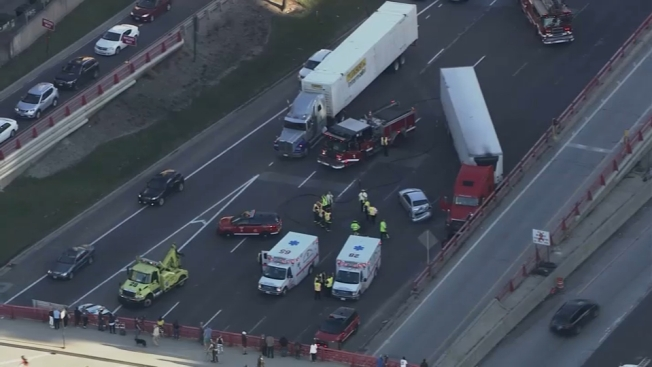 6 Injured, Traffic Halted After Semi Crash on I-90/94 Near