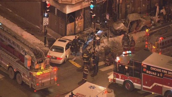 Car Slams Into Logan Square Building; 8 Injured