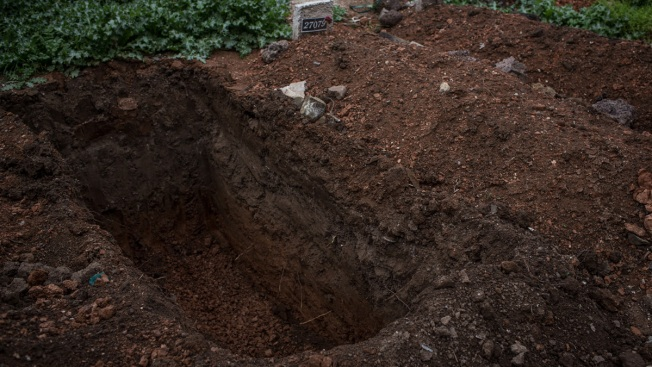 Cemetery Worker Trapped in Open Grave by Accidental Fall