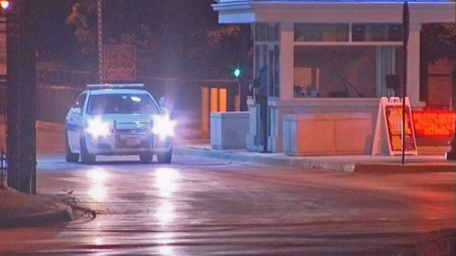 Driver Evades Gate of Naval Station Great Lakes