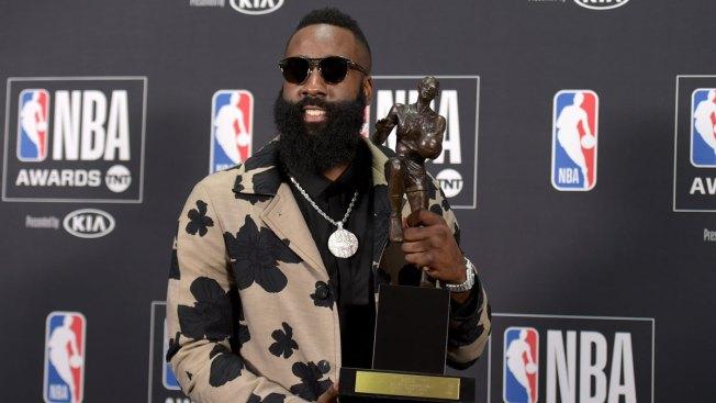 Houston's Harden Wins NBA MVP Over James, Davis