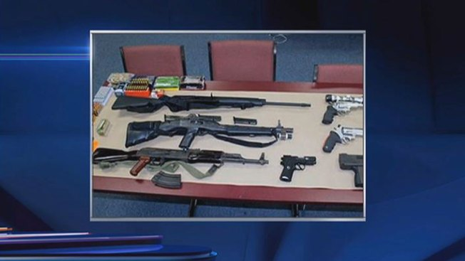 Harvey Police Find Illegal Weapons Arsenal in Home