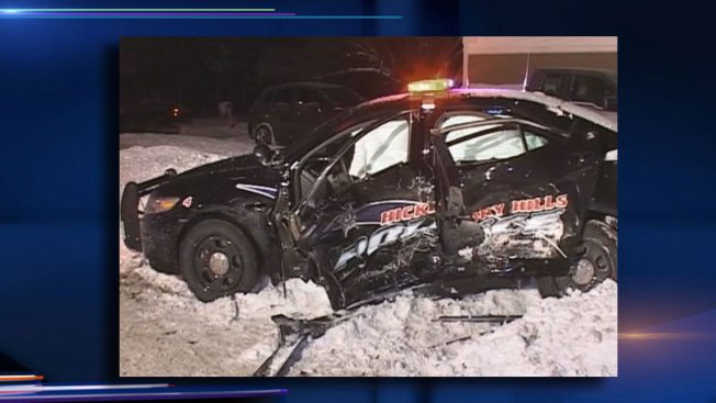 Hickory Hills Squad Car Involved in Serious Crash