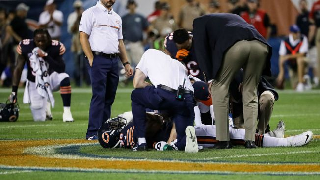 Lamarr Houston Suffers Leg Injury vs. Eagles