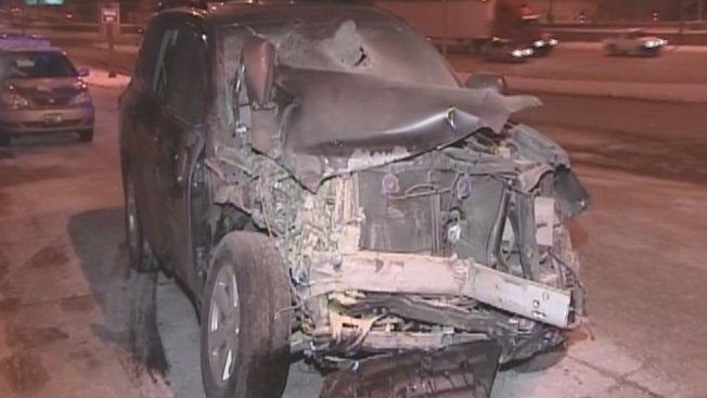 IDOT Worker Struck by SUV on Kennedy Expressway