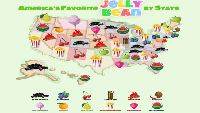 Do You Know Your State's Favorite Jelly Bean Flavor?