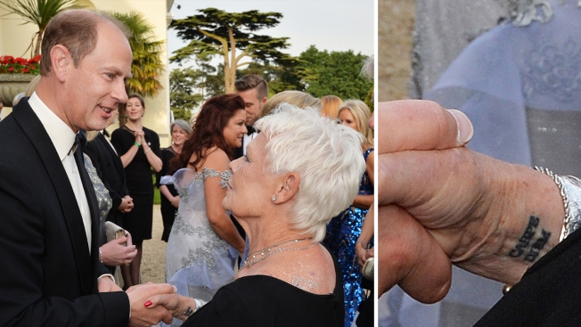 Judi Dench Gets First Tattoo at Age 81