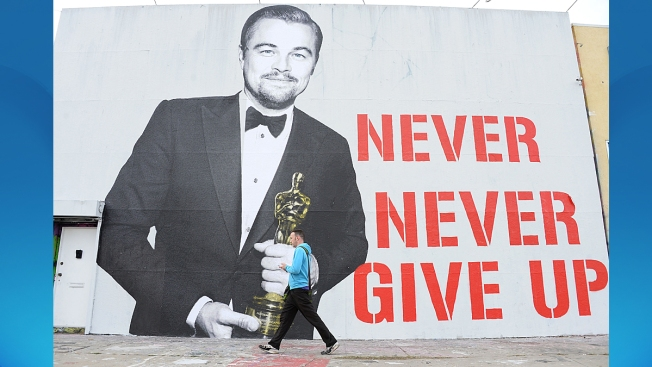 Love for Leo: Oscar Win-Inspired Mural in LA Says 'Never Never Give Up'