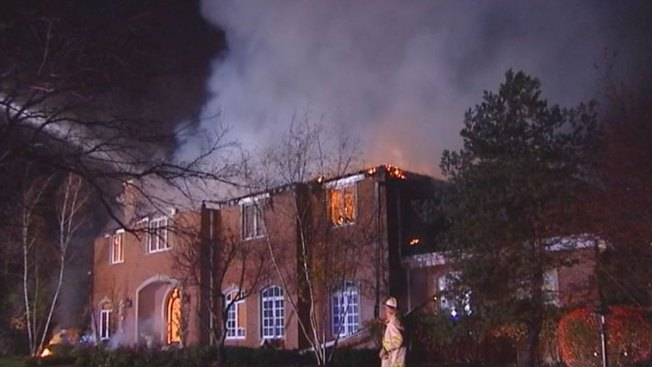 Fire Crews Probe Lake Forest Mansion Fire