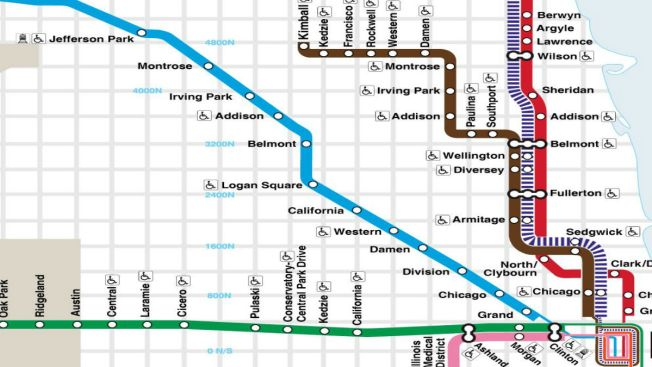 Chicago Blue Line Map Police: Man Fatally Struck by Blue Line Train at Addison Station  Chicago Blue Line Map