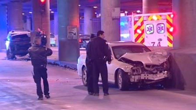 Chicago Officer Hurt in Crash on Lower Wacker Drive