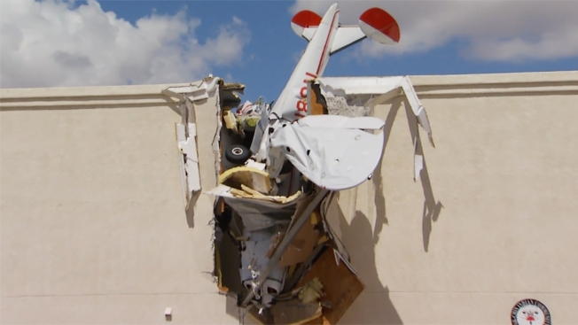 Light Plane Crashes Into Building at Small Arizona Airport