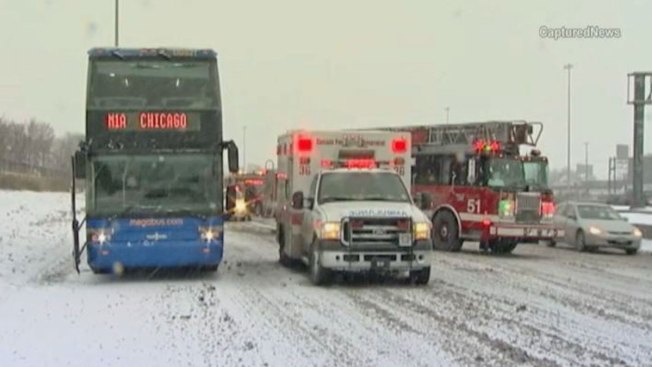 9 Injured in Crash Involving Van, Megabus