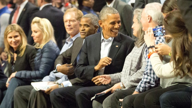 PHOTOS: Obama Attends Bulls-Cavs Season Opener