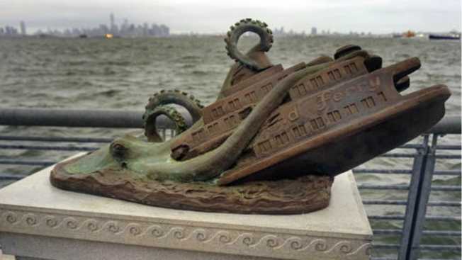 Images of Hoax Monument to Fictitious Octopus Ferry Attack