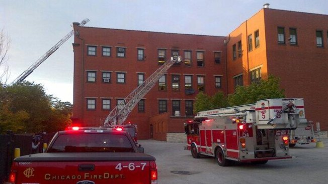 Crews Battle Fire at South Side School