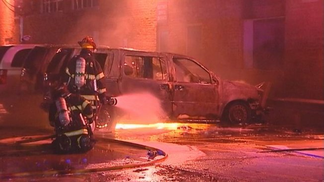 Postal Vans Destroyed in Lincolnwood Fire