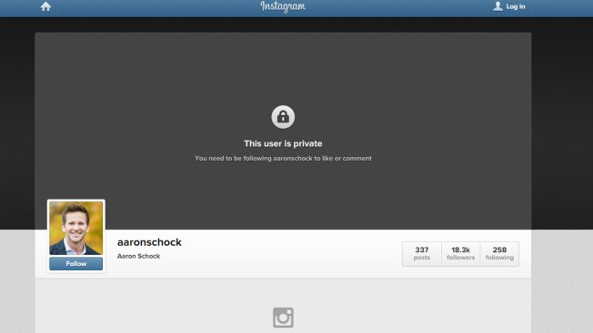 Schock Locks Down Instagram Account