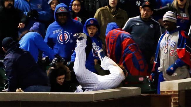 Kyle Schwarber Makes Insane Catch vs. Yankees