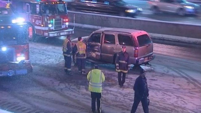 Icy Roads Blamed For Spin-Outs, Crashes