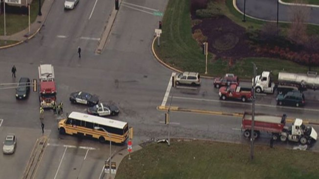 School Bus, Dump Truck Collide in Stickney