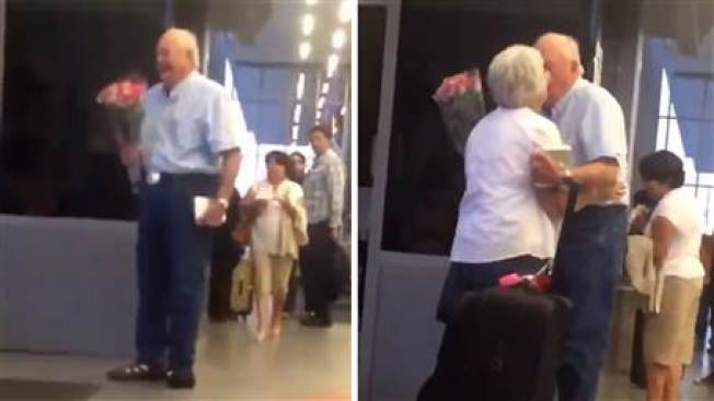Video of Couple Reuniting at Airport Is Melting Hearts