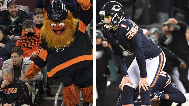 Gritty Tries Cody Parkey, Bird Box Challenge in Philadelphia