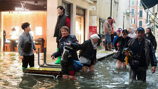 70 Percent of Venice Covered in Water by Flooding