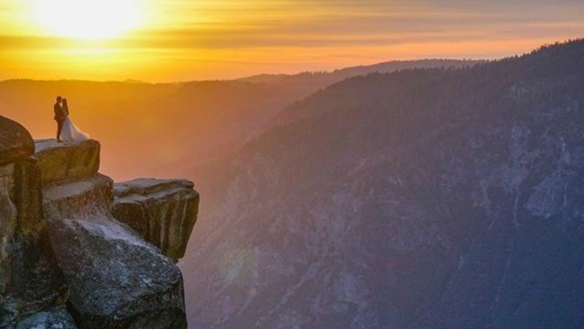 Mystery Couple Seen in Breathtaking Yosemite Wedding Photo