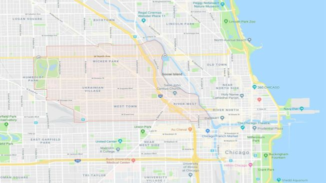 West Town Chicago Map.Series Of Robberies Reported In West Town Including Attempted