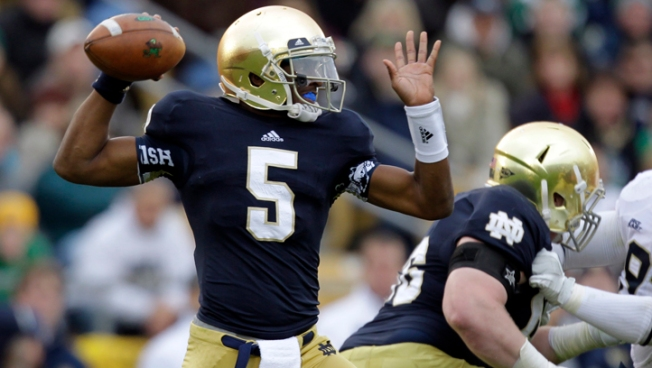 Golson Leads Notre Dame to 29-26, 3OT Win Over Pitt
