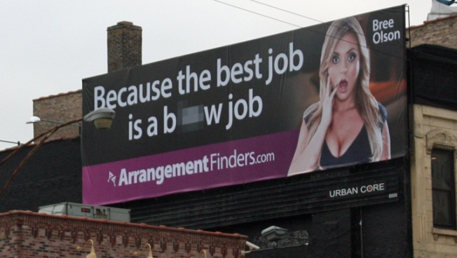 "Sheen's Ex ""Goddess"" Stars In Racy Chicago Billboard"
