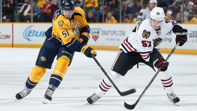 Predators Pound Blackhawks in 5-1 Blowout