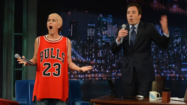 Actress Kristen Wiig Channels Michael Jordan