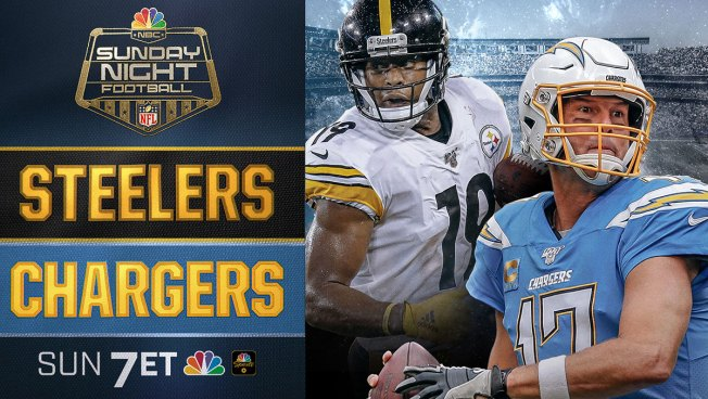 <p>SNF on NBC: Steelers vs Chargers</p>