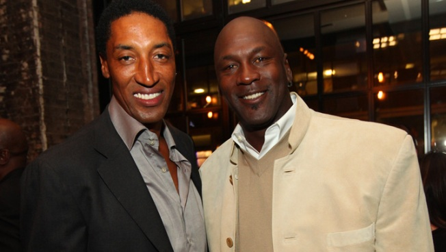 MJ, Pippen Party at Surprise Birthday Bash