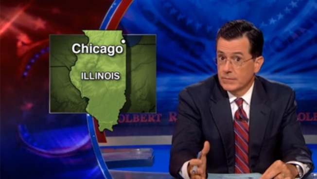 Stephen Colbert Compares Syrian Violence to Chicago's